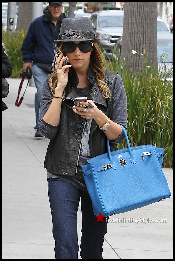 Ashley-Tisdale-New-Blue-Hermes-Birkin
