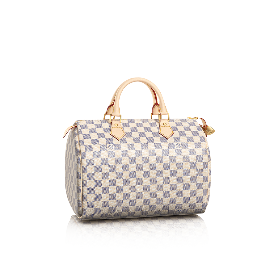 N41533_PM2_Front view_Louis Vuitton Speedy 30 Damier Azur
