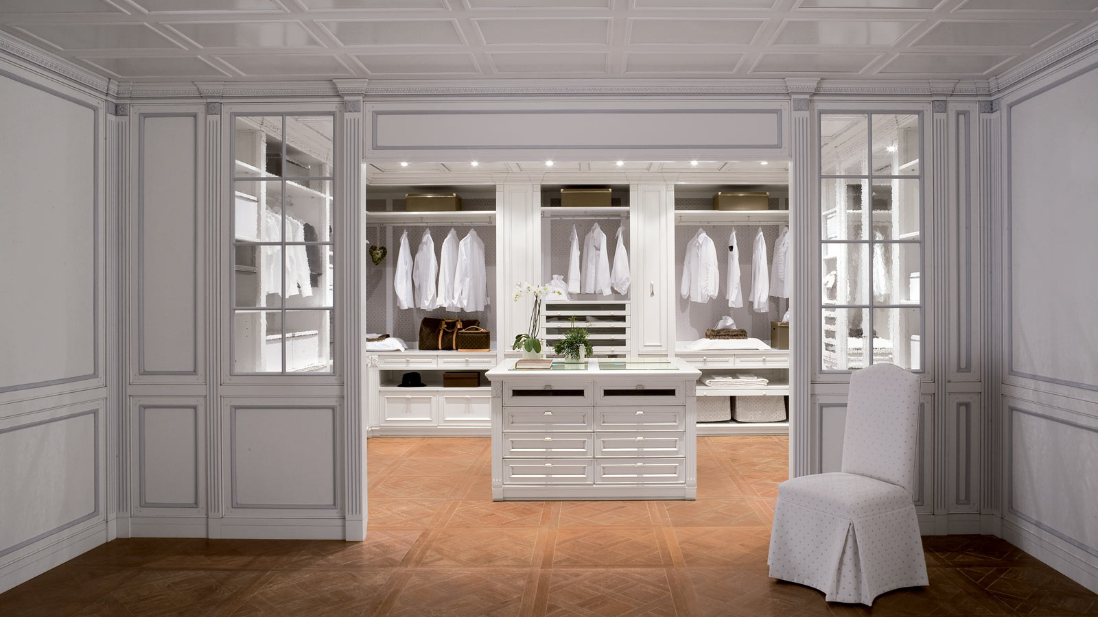 Walk in wardrobe garderoby for Bedroom walk in closet designs