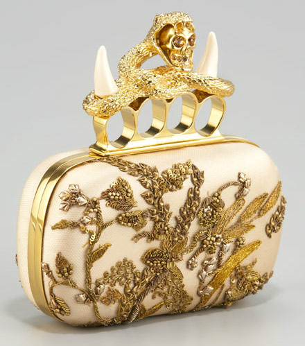 Alexander-McQueen-Embroidered-Satin-Knuckle-Skull-Clutch