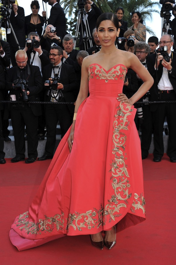 Ferida Pinto at the Cannes Film Festival