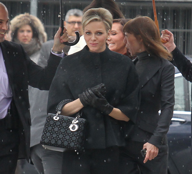a214744977e5 Celebrities arrive at the Dior Fashion Show in Paris